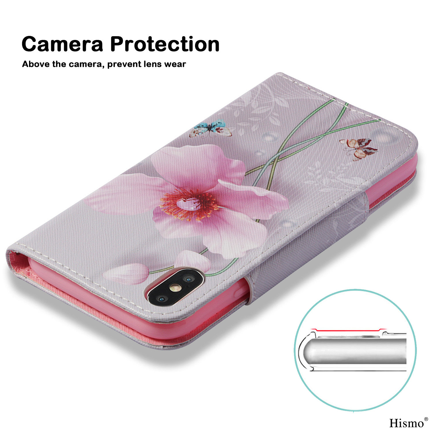 For-iPhone-8-Plus-XS-Max-XR-7-Leather-Case-Card-Wallet-Stand-Flip-Painted-Cover