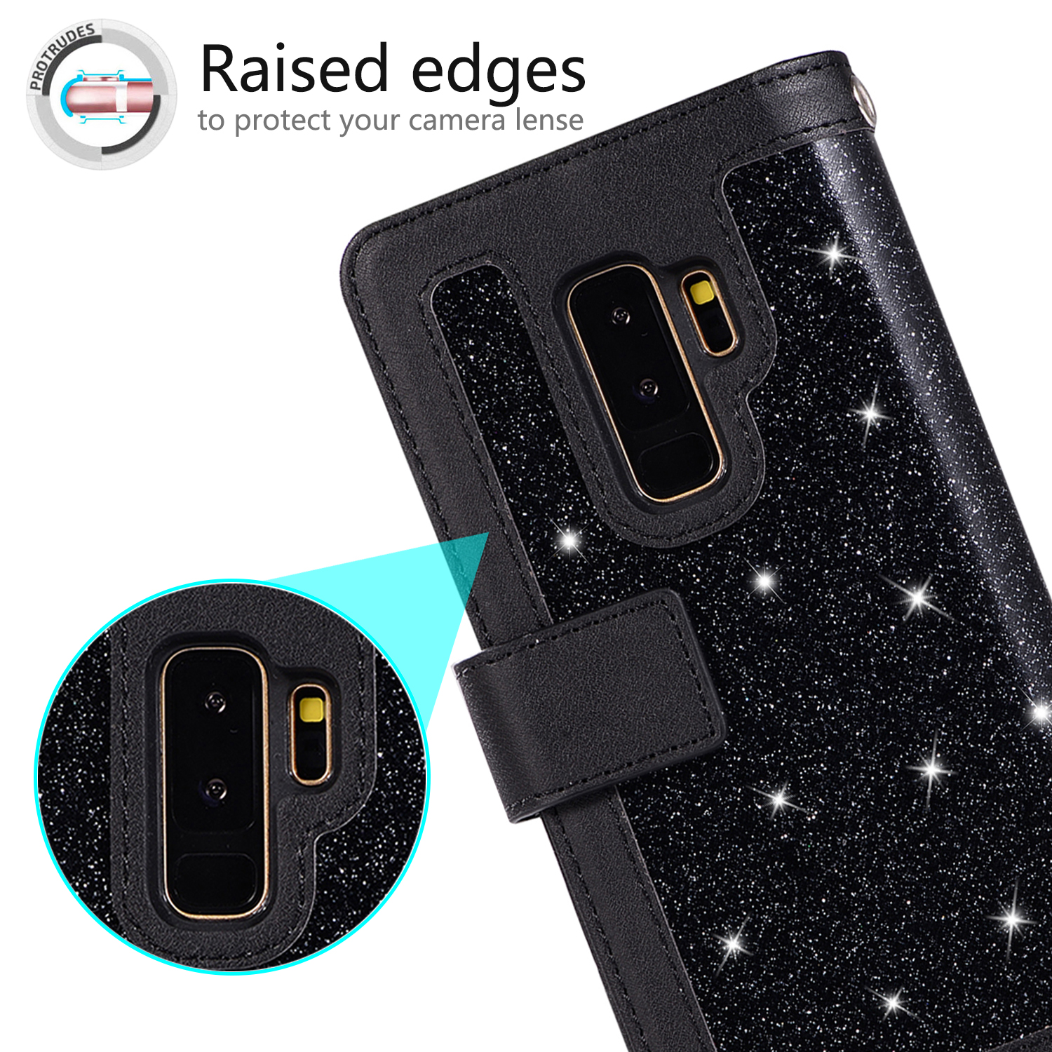 For-Samsung-Galaxy-S8-Plus-S7-Edge-Note-8-Bling-Zipper-Leather-Wallet-Case-Cover thumbnail 12
