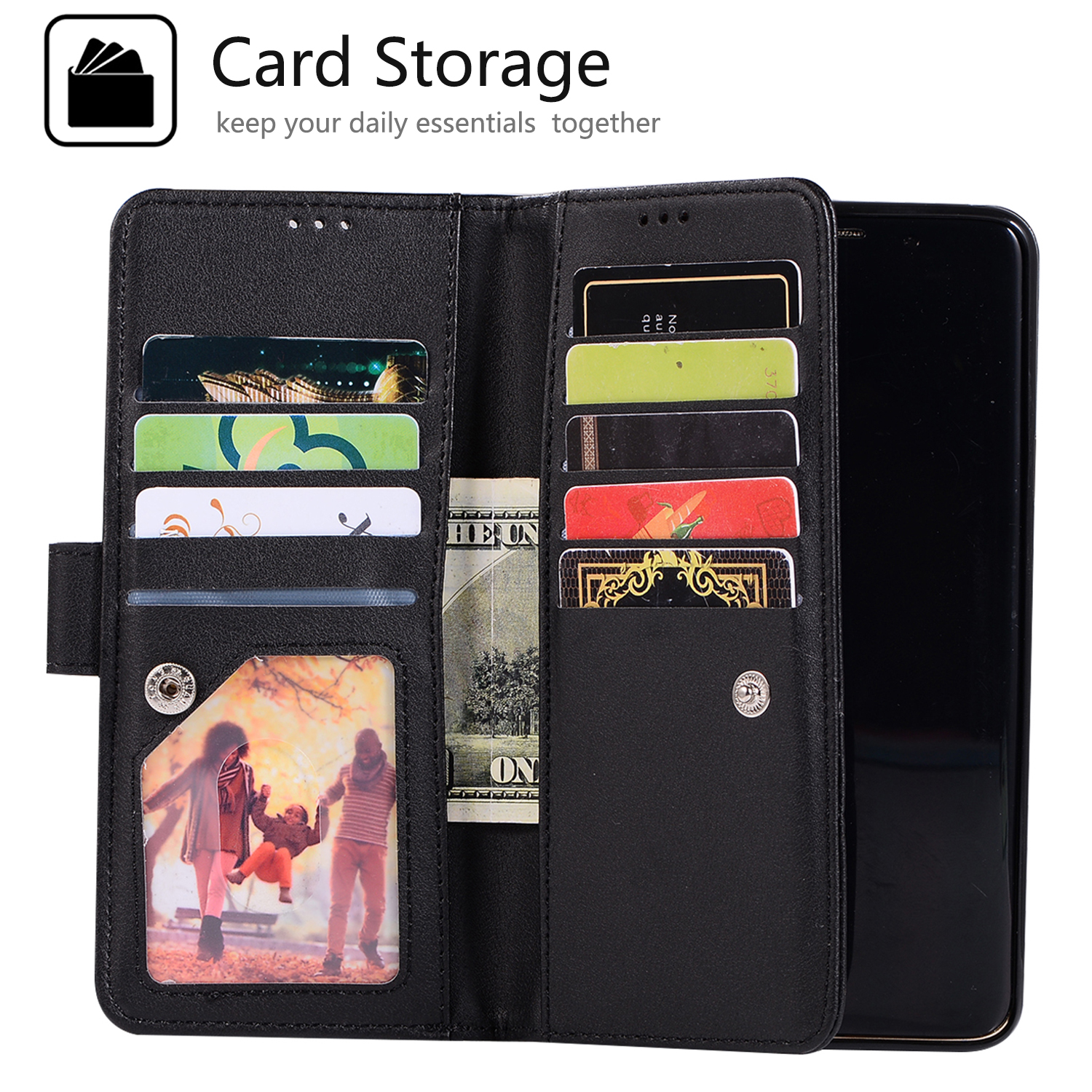 For-Samsung-Galaxy-S8-Plus-S7-Edge-Note-8-Bling-Zipper-Leather-Wallet-Case-Cover thumbnail 16