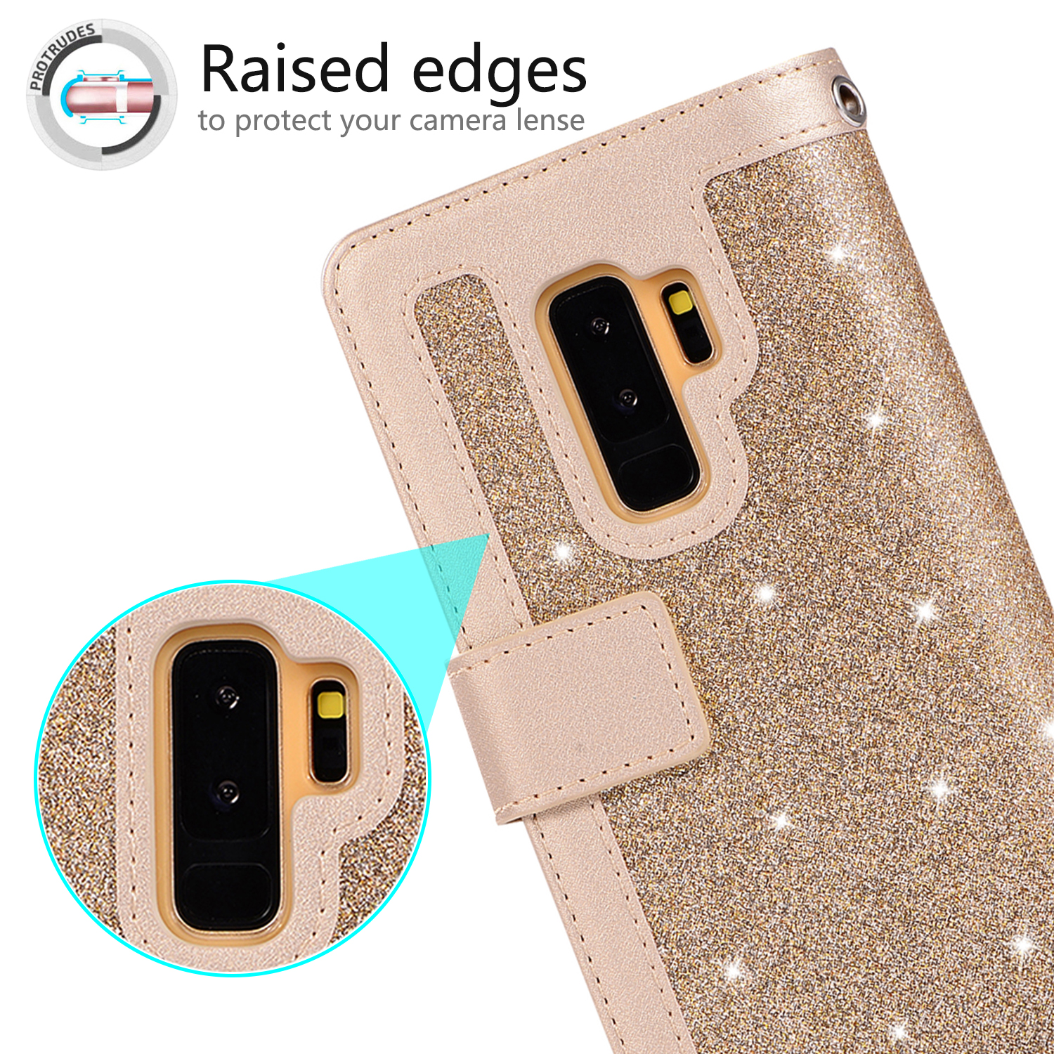 For-Samsung-Galaxy-S8-Plus-S7-Edge-Note-8-Bling-Zipper-Leather-Wallet-Case-Cover thumbnail 19