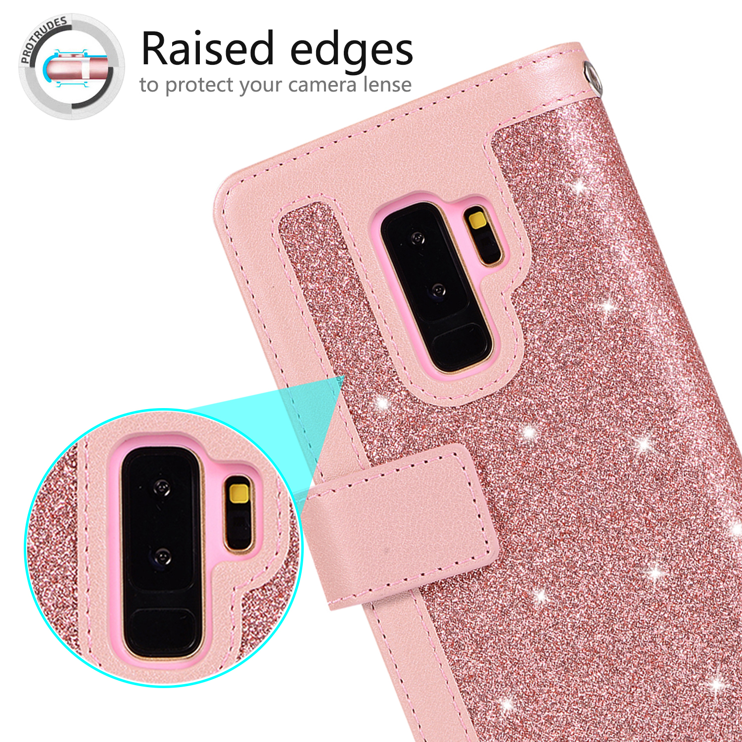 For-Samsung-Galaxy-S8-Plus-S7-Edge-Note-8-Bling-Zipper-Leather-Wallet-Case-Cover thumbnail 26
