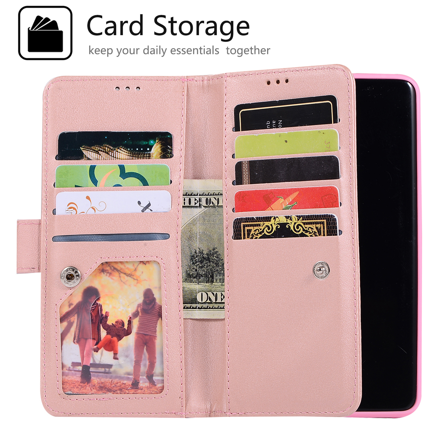 For-Samsung-Galaxy-S8-Plus-S7-Edge-Note-8-Bling-Zipper-Leather-Wallet-Case-Cover thumbnail 30