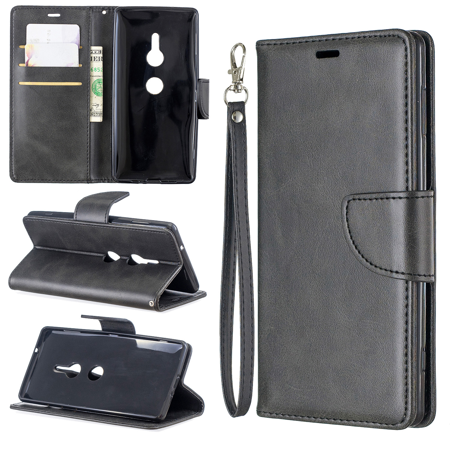 Magnetic-Flip-Card-Wallet-Leather-Phone-Case-For-Sony-Xperia-XA2-Ultra-XZ1-L3-10 thumbnail 10