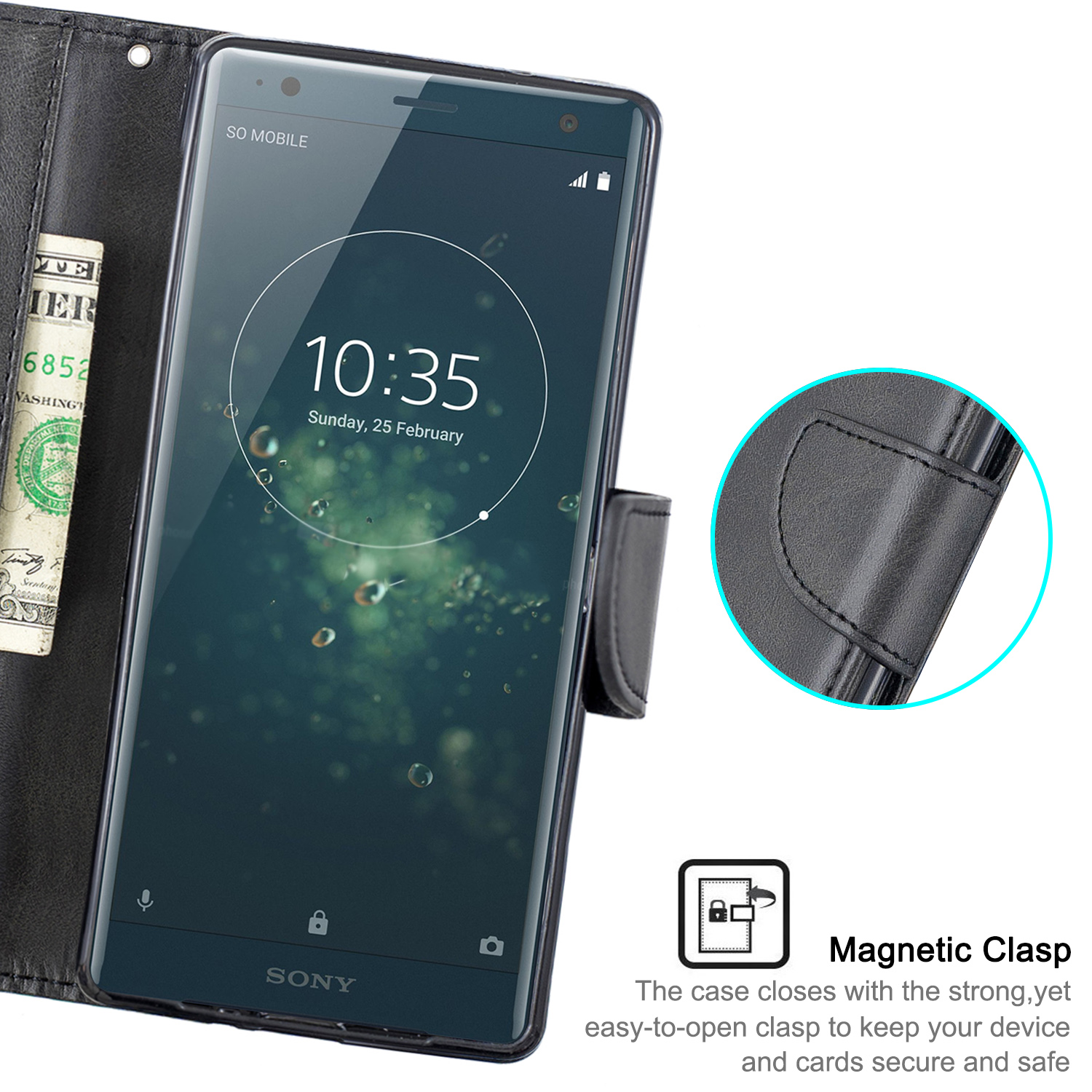 Magnetic-Flip-Card-Wallet-Leather-Phone-Case-For-Sony-Xperia-XA2-Ultra-XZ1-L3-10 thumbnail 14