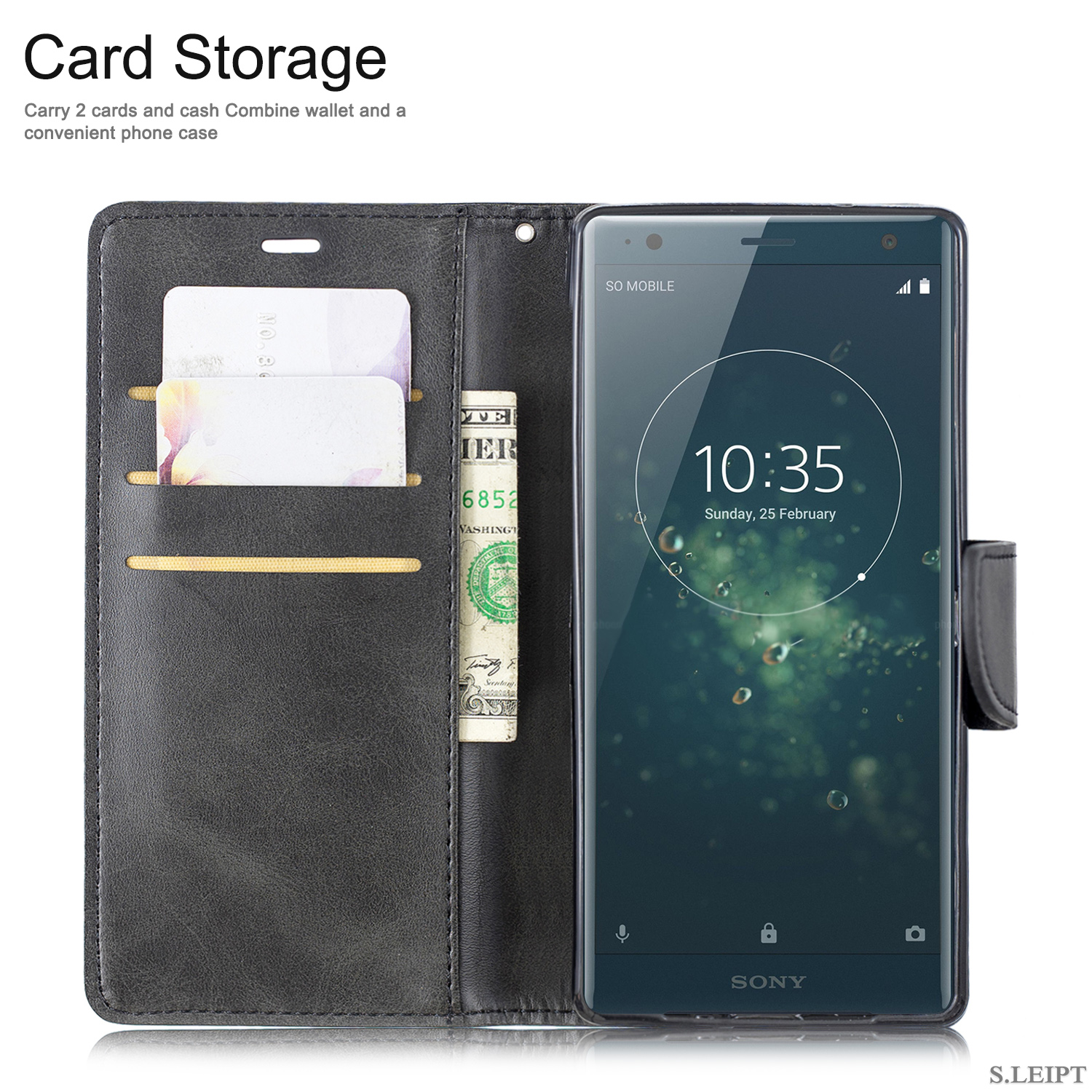 Magnetic-Flip-Card-Wallet-Leather-Phone-Case-For-Sony-Xperia-XA2-Ultra-XZ1-L3-10 thumbnail 15
