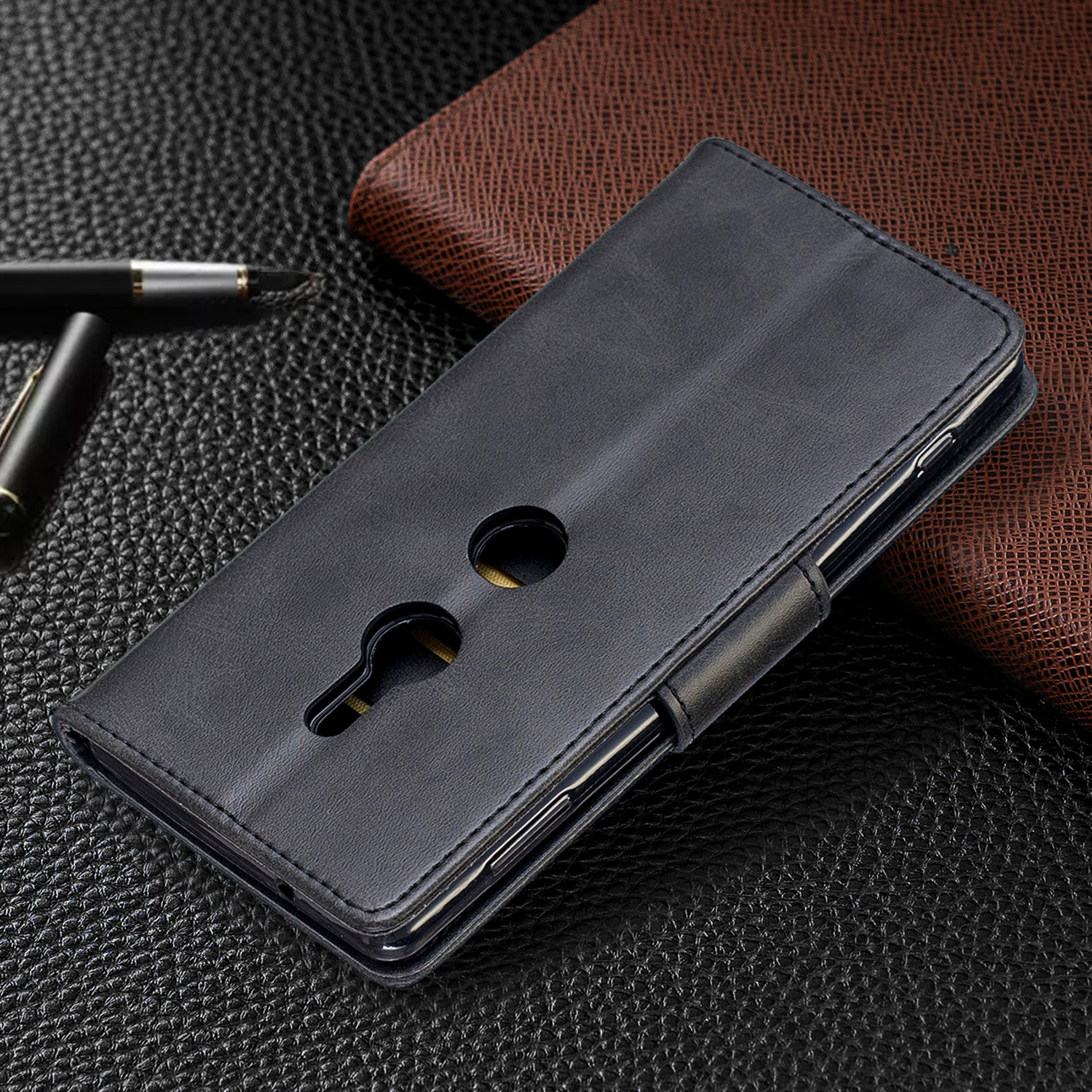 Magnetic-Flip-Card-Wallet-Leather-Phone-Case-For-Sony-Xperia-XA2-Ultra-XZ1-L3-10 thumbnail 8