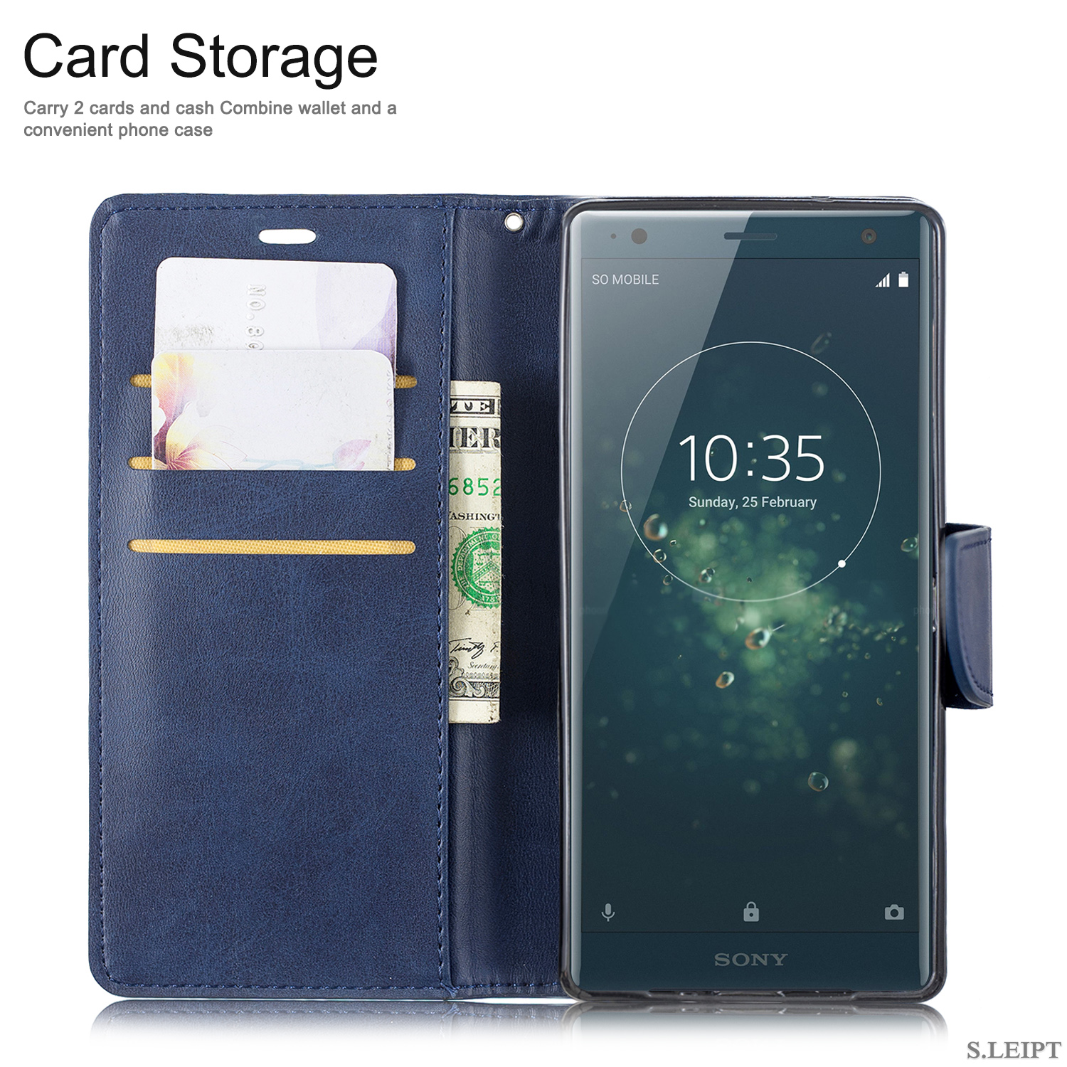 Magnetic-Flip-Card-Wallet-Leather-Phone-Case-For-Sony-Xperia-XA2-Ultra-XZ1-L3-10 thumbnail 24