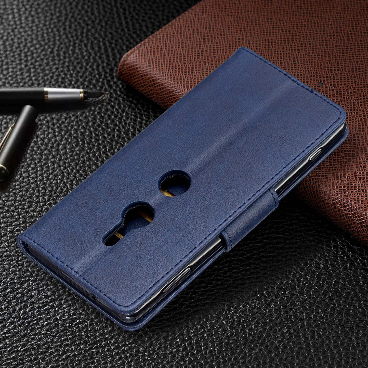 Magnetic-Flip-Card-Wallet-Leather-Phone-Case-For-Sony-Xperia-XA2-Ultra-XZ1-L3-10 thumbnail 17