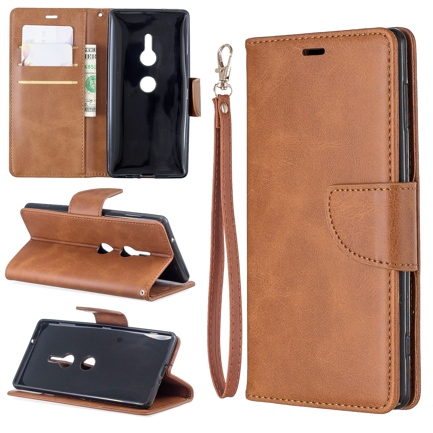 Magnetic-Flip-Card-Wallet-Leather-Phone-Case-For-Sony-Xperia-XA2-Ultra-XZ1-L3-10 thumbnail 28