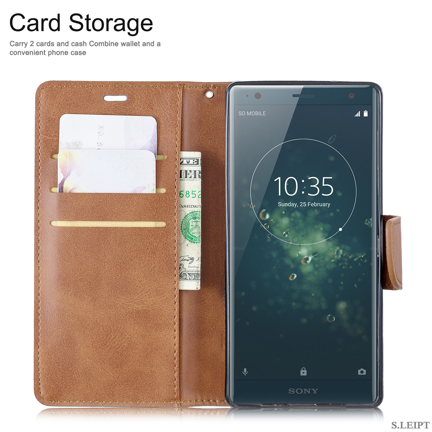 Magnetic-Flip-Card-Wallet-Leather-Phone-Case-For-Sony-Xperia-XA2-Ultra-XZ1-L3-10 thumbnail 33