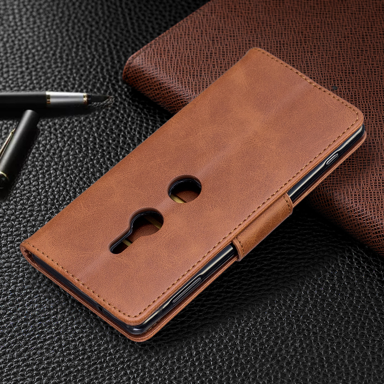 Magnetic-Flip-Card-Wallet-Leather-Phone-Case-For-Sony-Xperia-XA2-Ultra-XZ1-L3-10 thumbnail 26