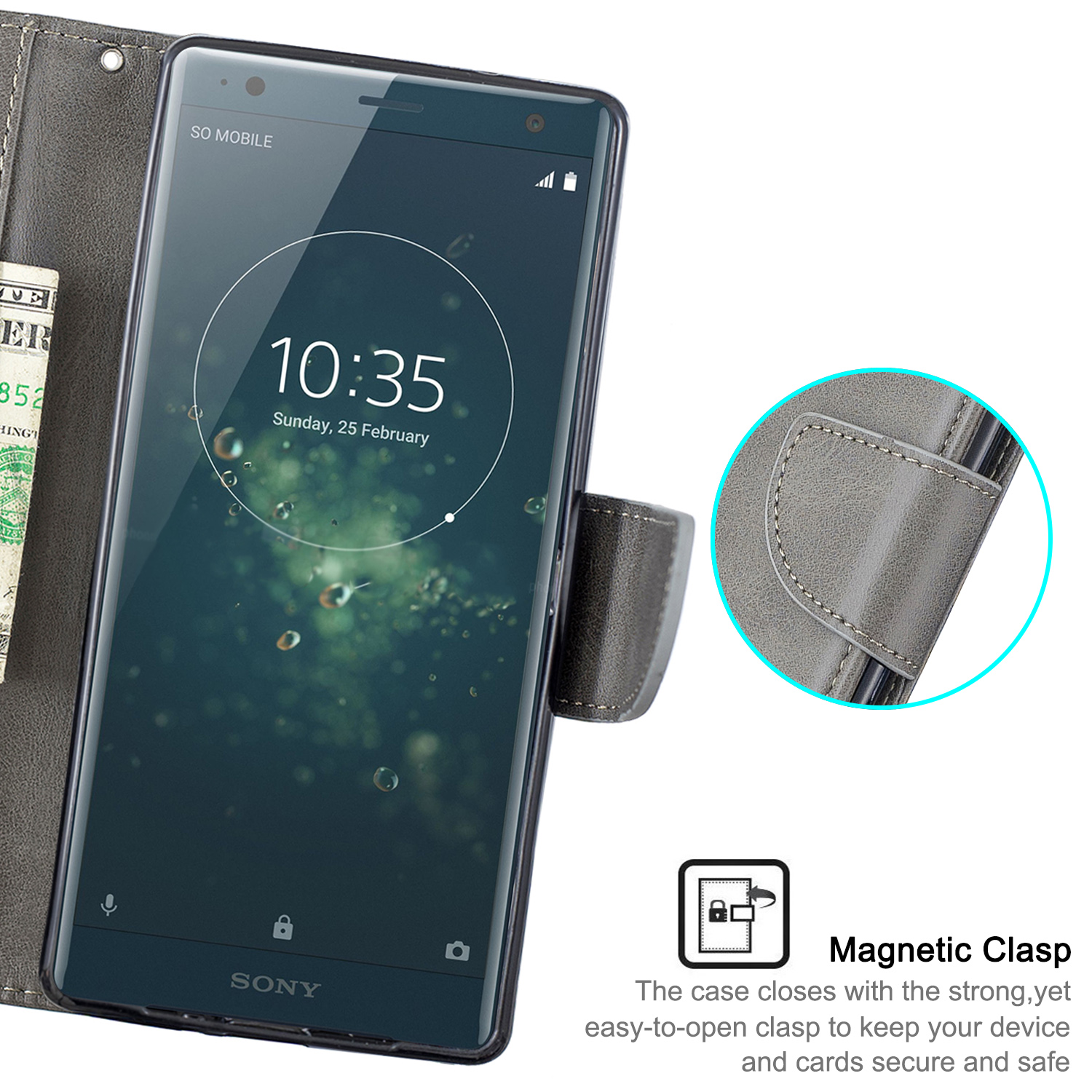 Magnetic-Flip-Card-Wallet-Leather-Phone-Case-For-Sony-Xperia-XA2-Ultra-XZ1-L3-10 thumbnail 59