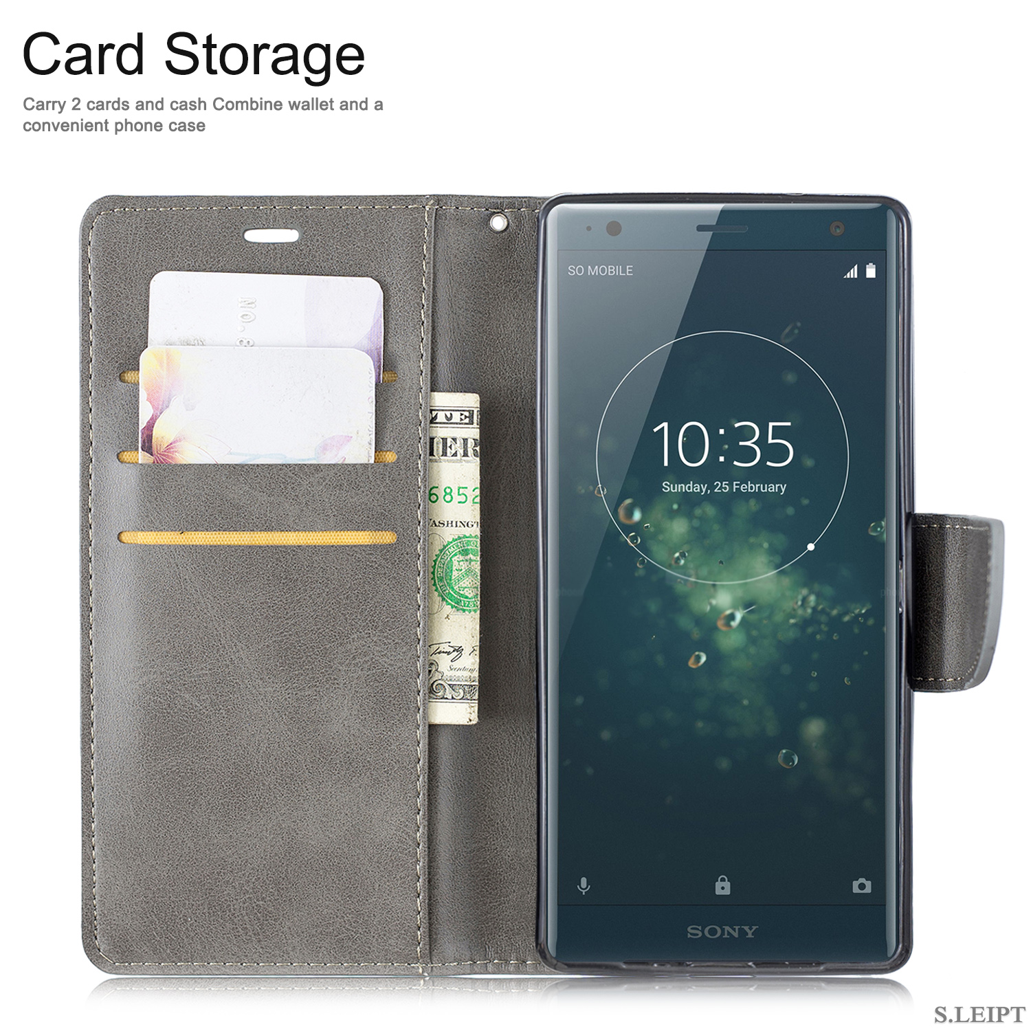 Magnetic-Flip-Card-Wallet-Leather-Phone-Case-For-Sony-Xperia-XA2-Ultra-XZ1-L3-10 thumbnail 60