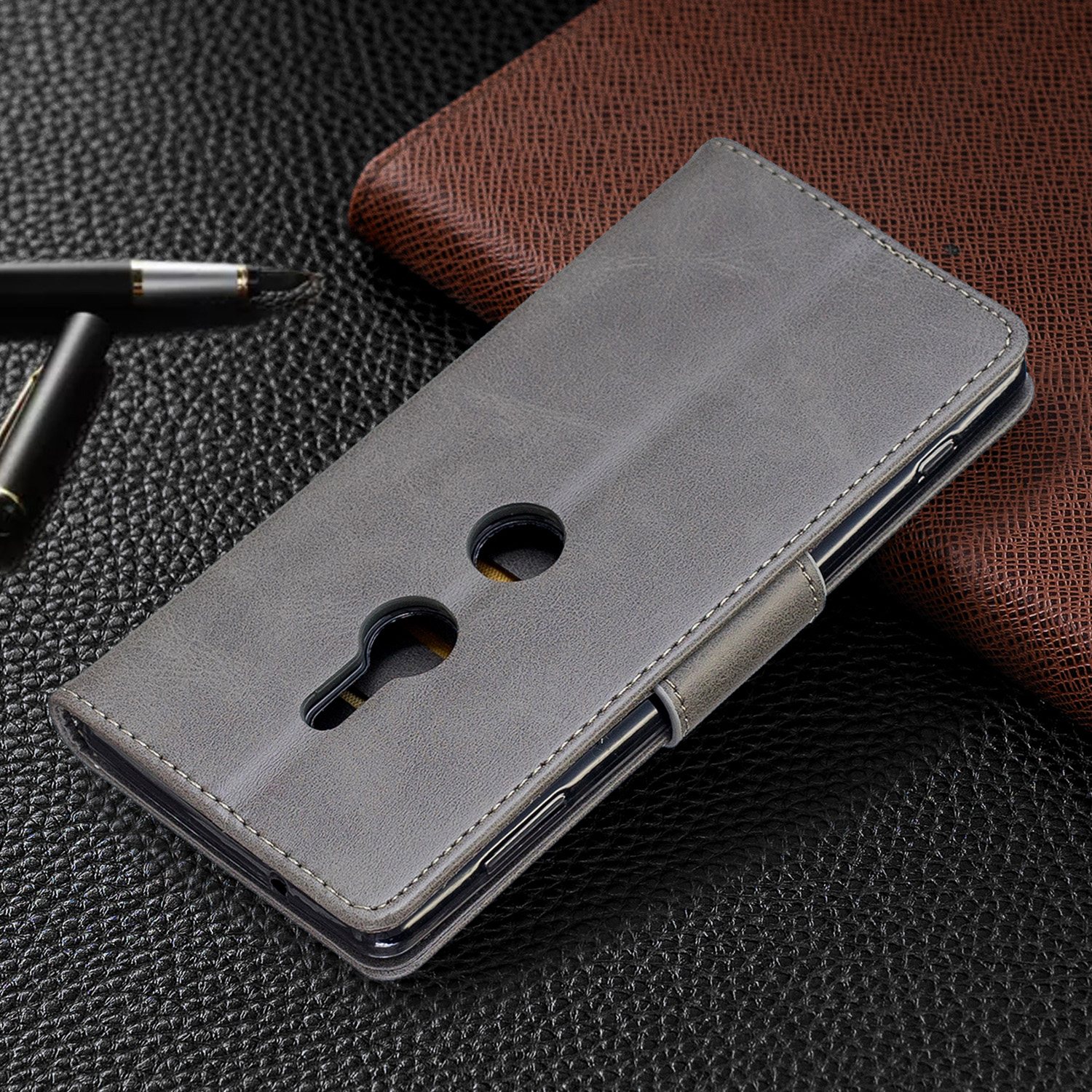 Magnetic-Flip-Card-Wallet-Leather-Phone-Case-For-Sony-Xperia-XA2-Ultra-XZ1-L3-10 thumbnail 53