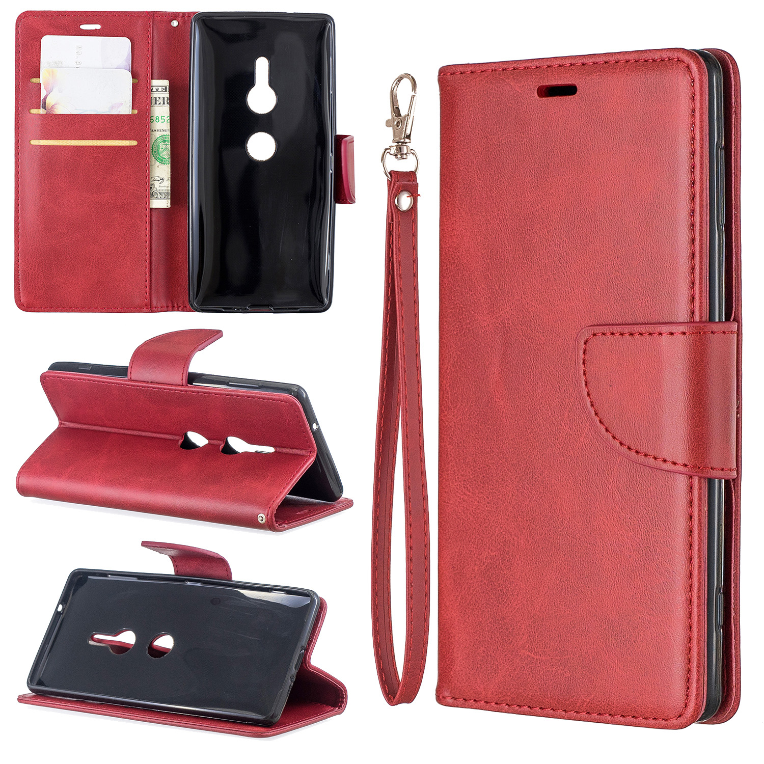 Magnetic-Flip-Card-Wallet-Leather-Phone-Case-For-Sony-Xperia-XA2-Ultra-XZ1-L3-10 thumbnail 46
