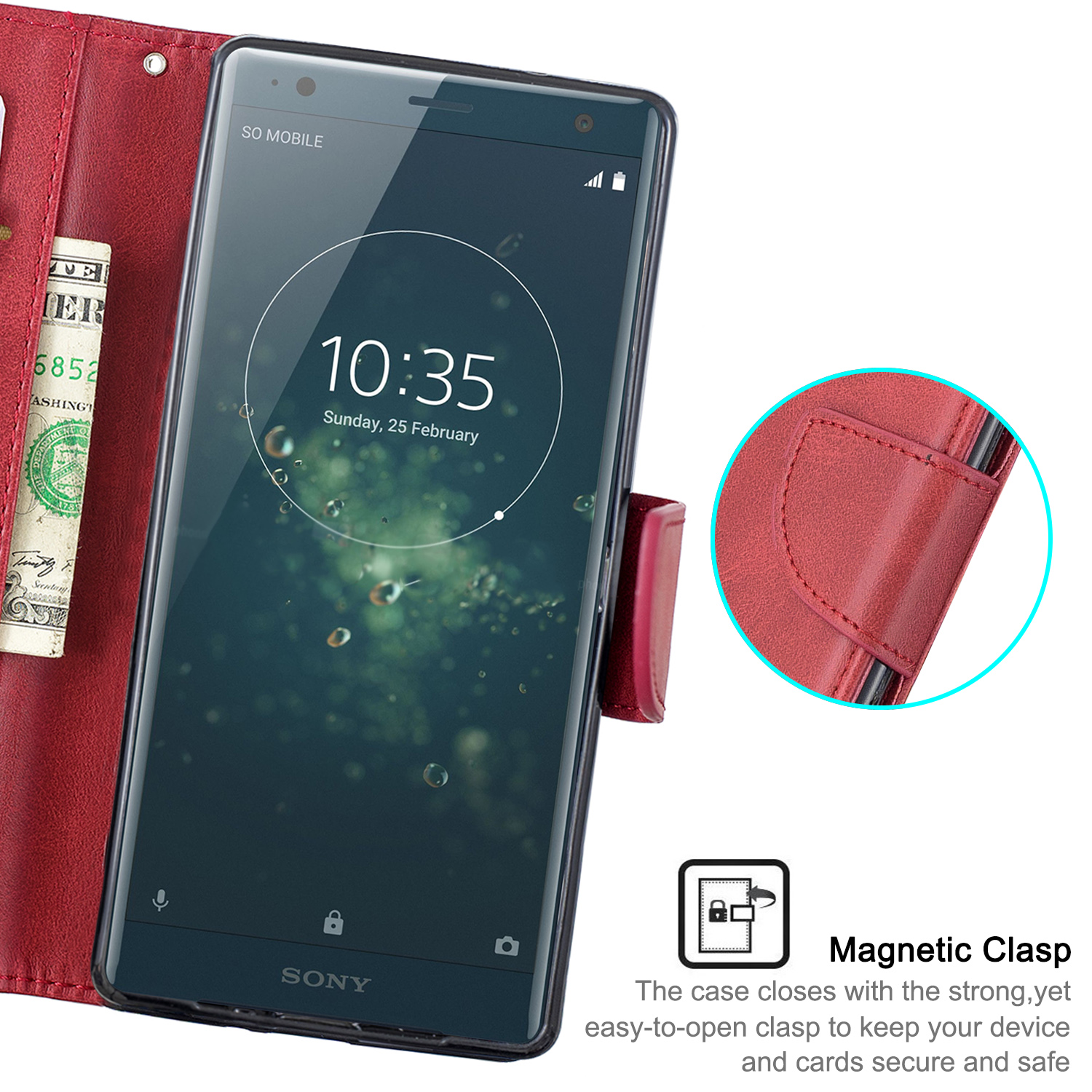Magnetic-Flip-Card-Wallet-Leather-Phone-Case-For-Sony-Xperia-XA2-Ultra-XZ1-L3-10 thumbnail 50