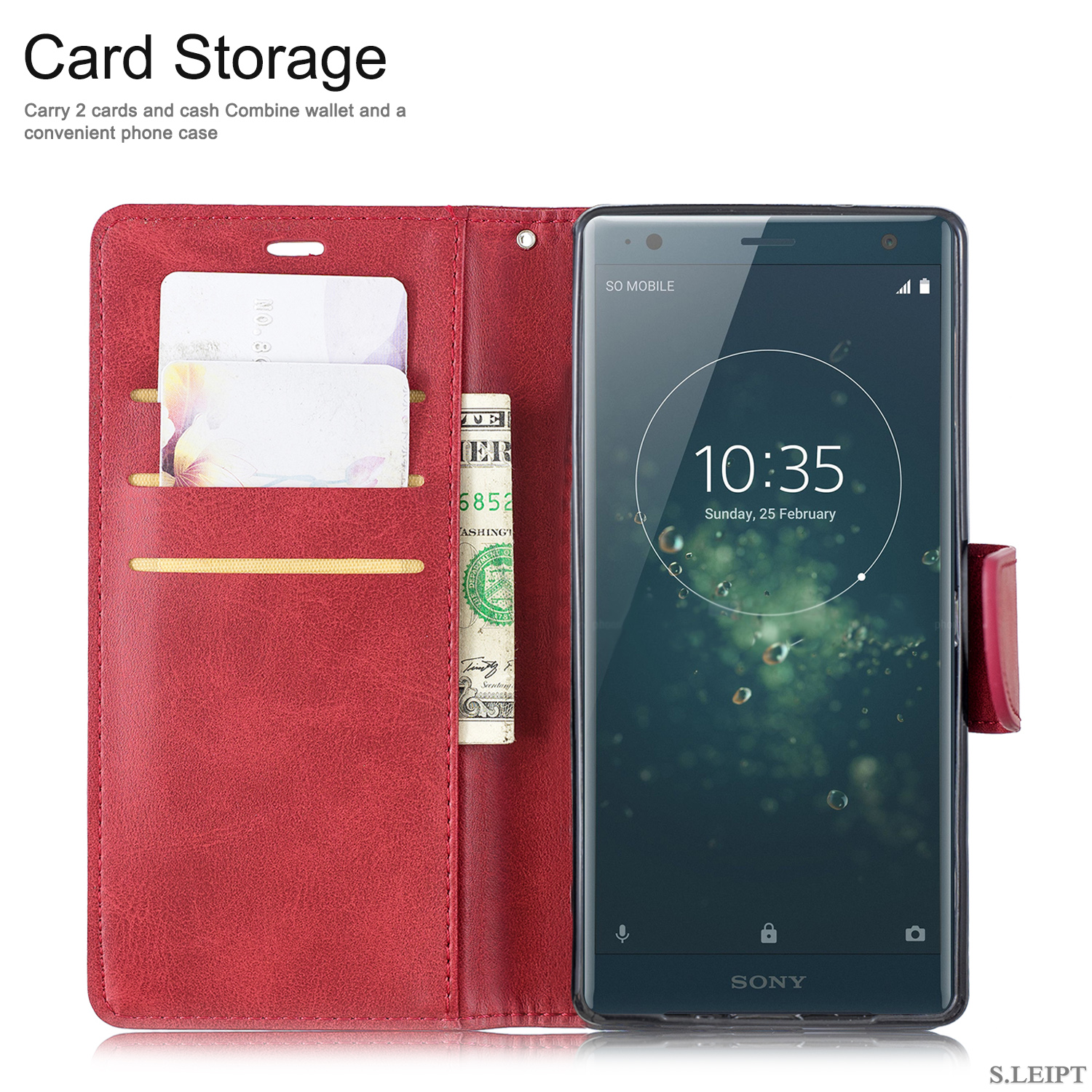 Magnetic-Flip-Card-Wallet-Leather-Phone-Case-For-Sony-Xperia-XA2-Ultra-XZ1-L3-10 thumbnail 51