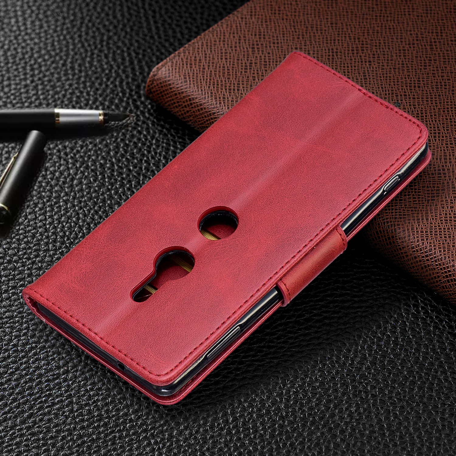Magnetic-Flip-Card-Wallet-Leather-Phone-Case-For-Sony-Xperia-XA2-Ultra-XZ1-L3-10 thumbnail 44