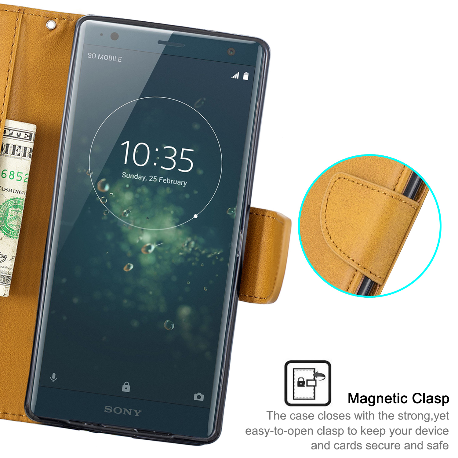 Magnetic-Flip-Card-Wallet-Leather-Phone-Case-For-Sony-Xperia-XA2-Ultra-XZ1-L3-10 thumbnail 41