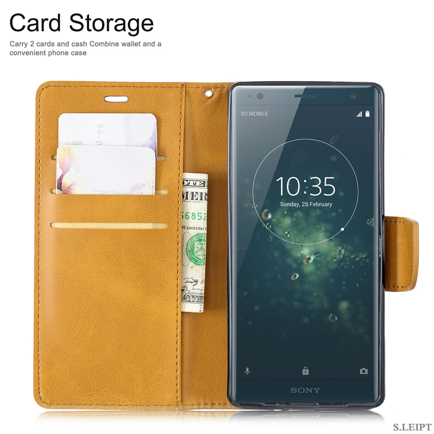 Magnetic-Flip-Card-Wallet-Leather-Phone-Case-For-Sony-Xperia-XA2-Ultra-XZ1-L3-10 thumbnail 42