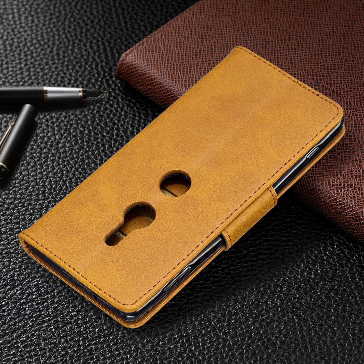 Magnetic-Flip-Card-Wallet-Leather-Phone-Case-For-Sony-Xperia-XA2-Ultra-XZ1-L3-10 thumbnail 35