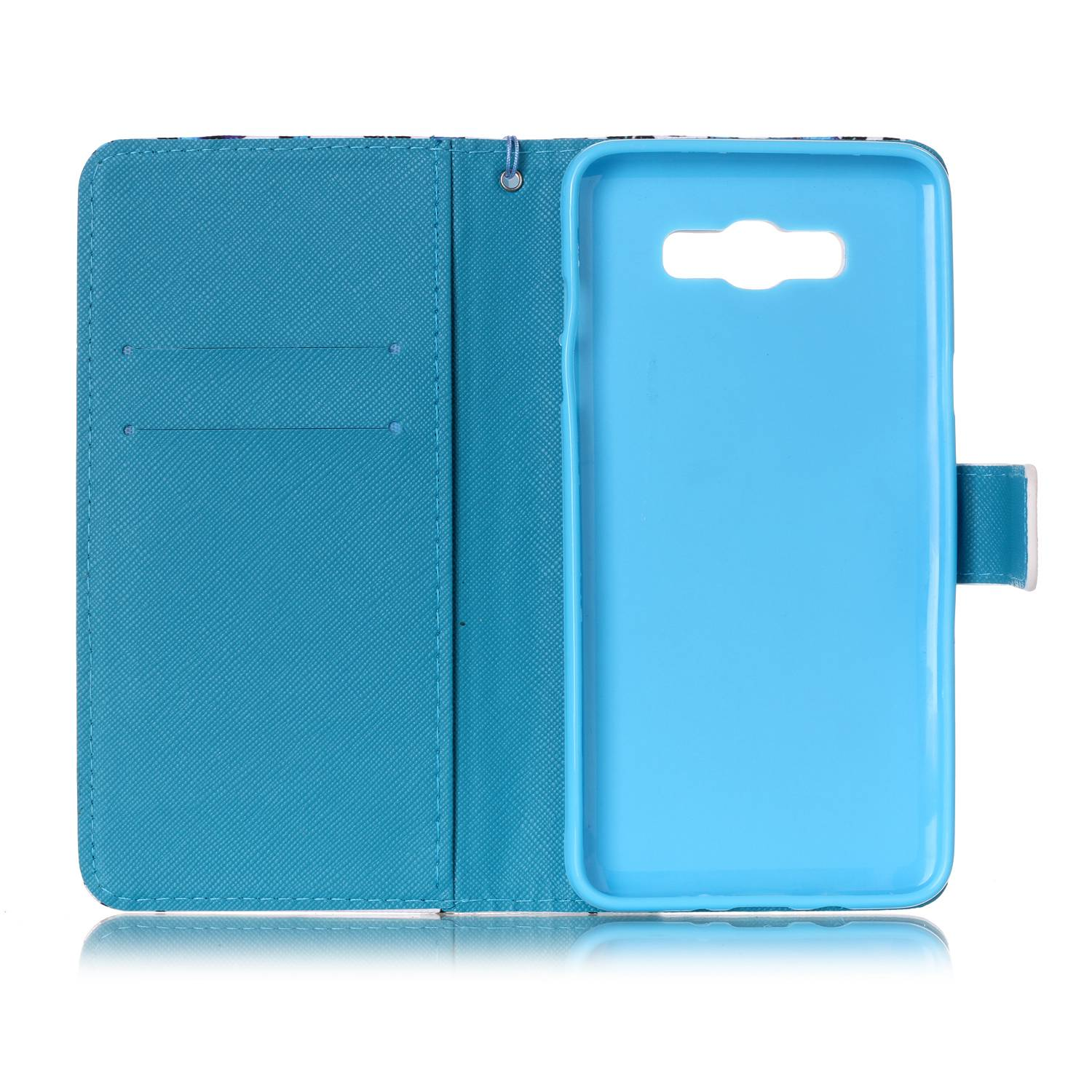 Patterned-Strap-Flip-Leather-Wallet-Stand-Case-Cover-For-Samsung-S5-S6-S7-Edge