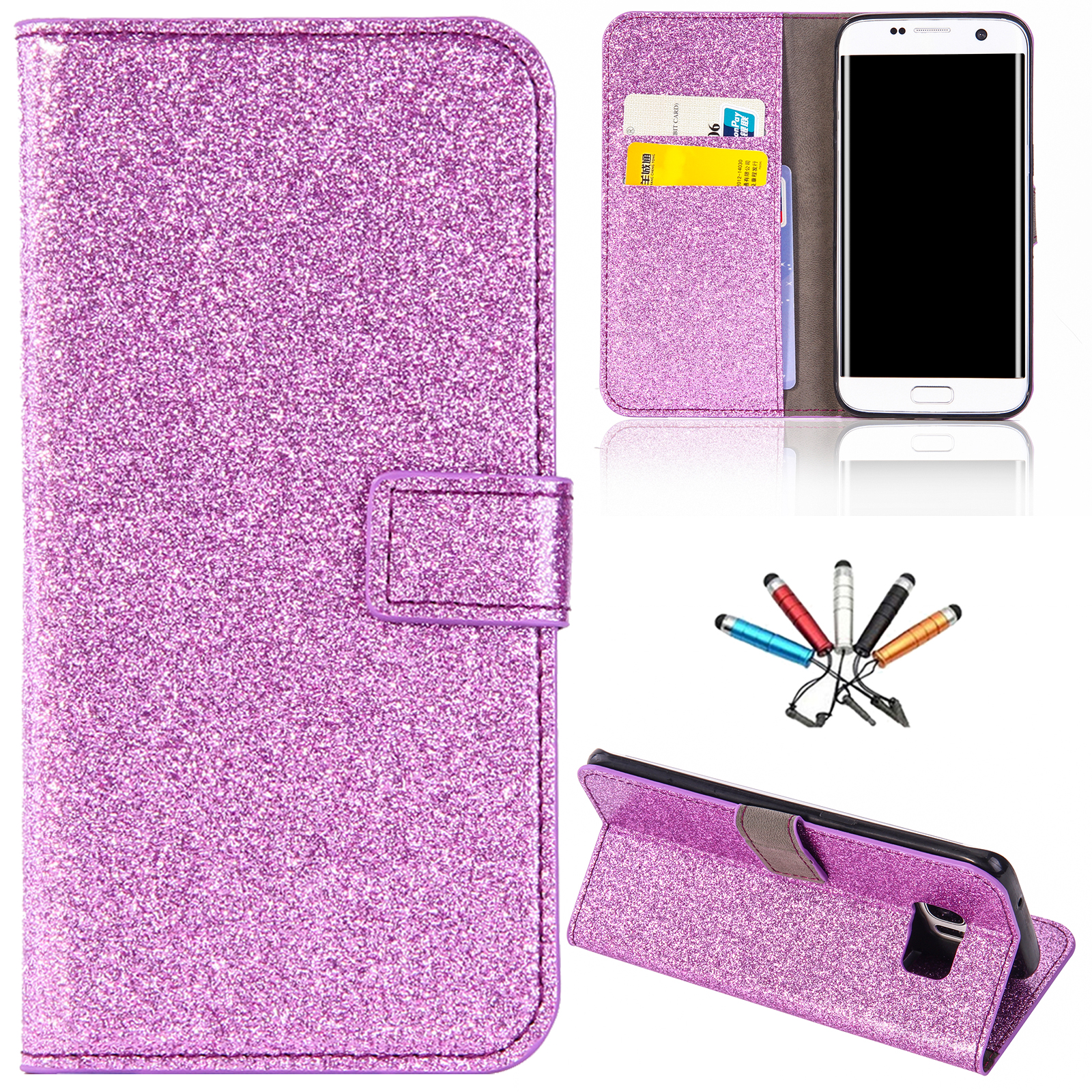 For-Samsung-S9-S8-New-Magnetic-Card-Slots-Case-Wallet-Leather-Stand-Flip-Cover