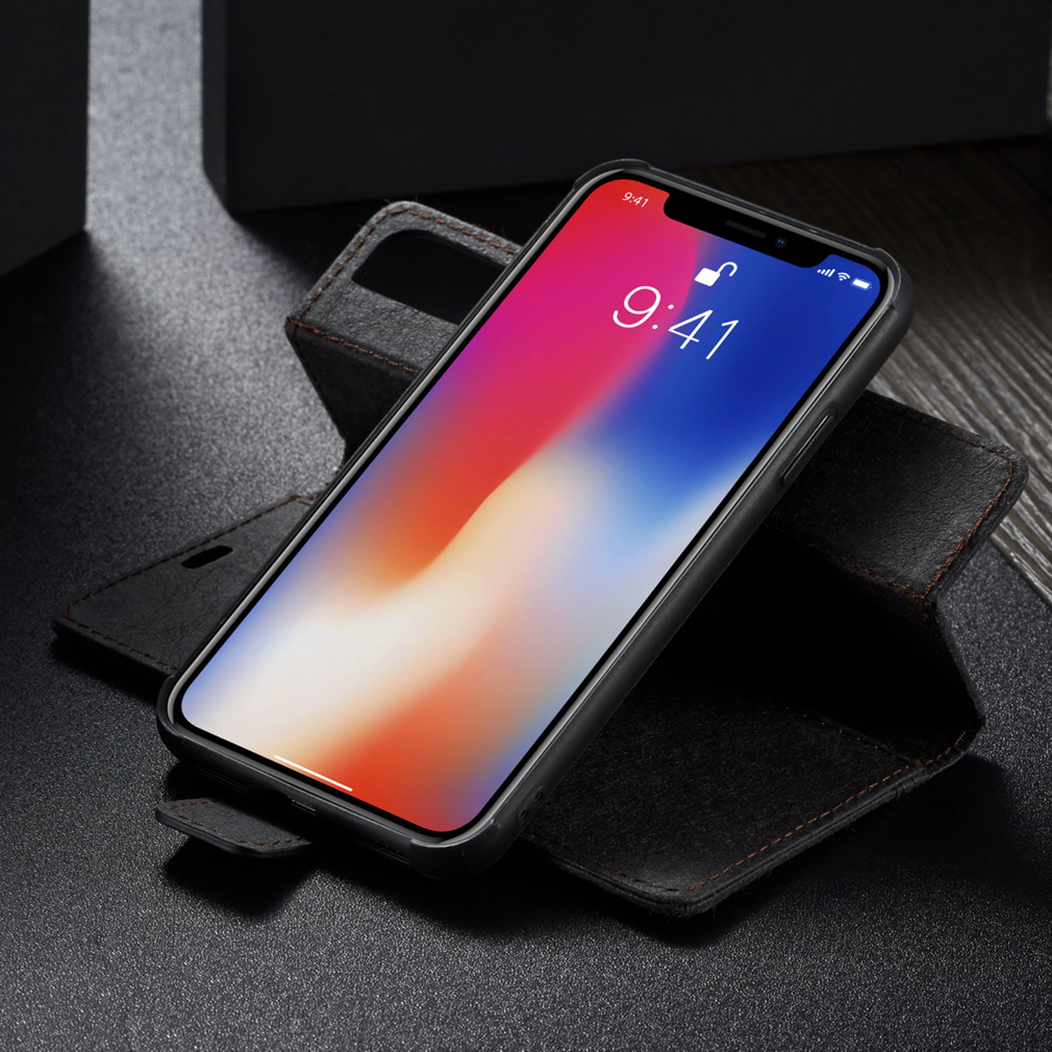 for iphone xs max 7 8 luxury magnetic leather removable. Black Bedroom Furniture Sets. Home Design Ideas