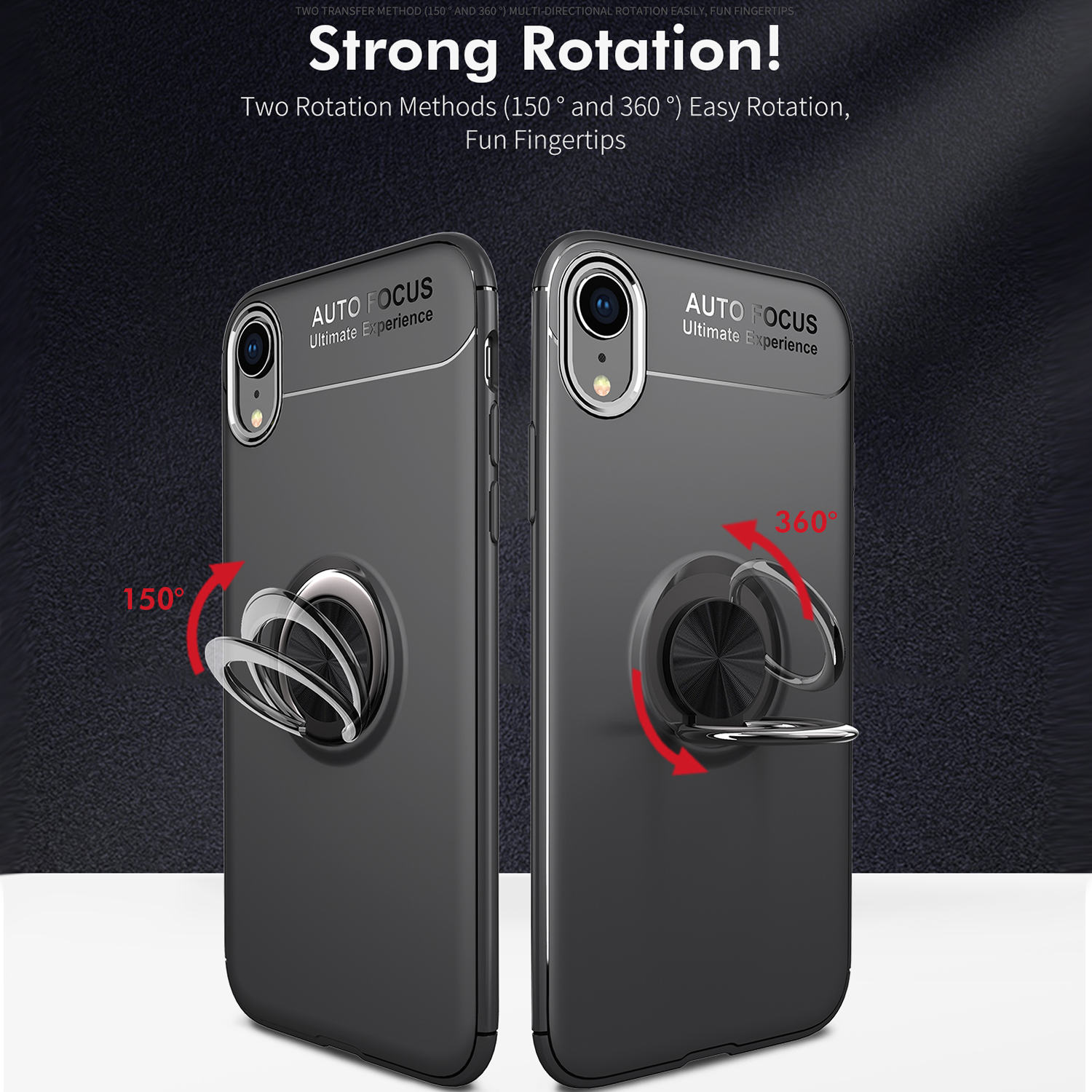 new product a349e f0367 Details about For iPhone XS Max XR Hybrid Magnet Case TPU Ring Holder Stand  Protective Cover