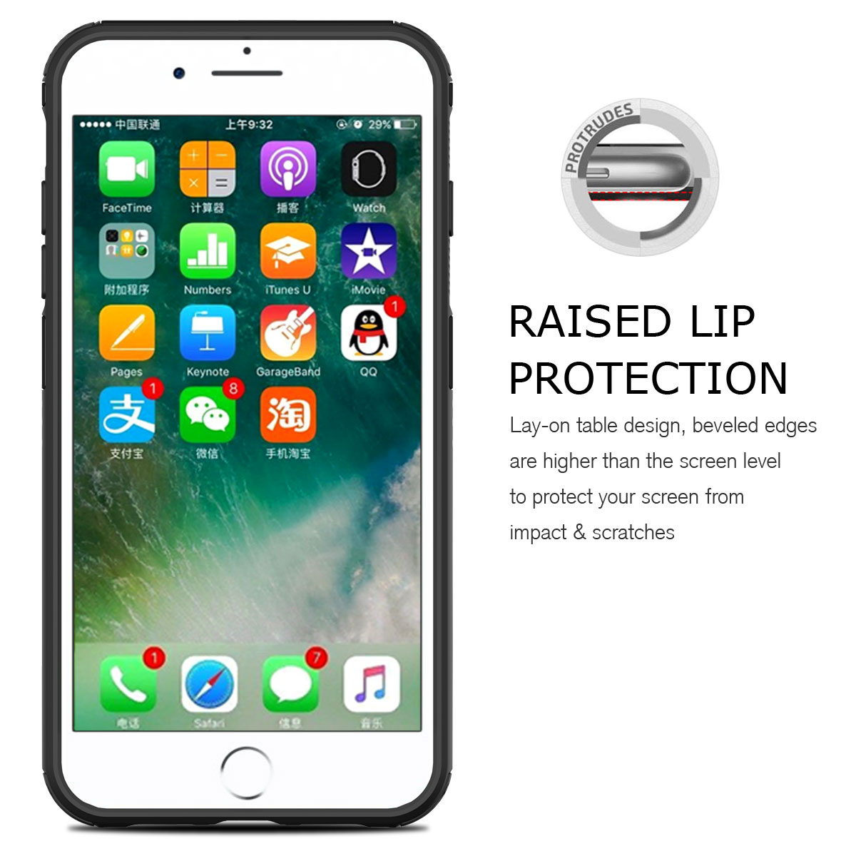 Details about For Apple iPhone 7 8 Plus XR XS Max Heavy Duty Shockproof  Rigid Back Case Cover