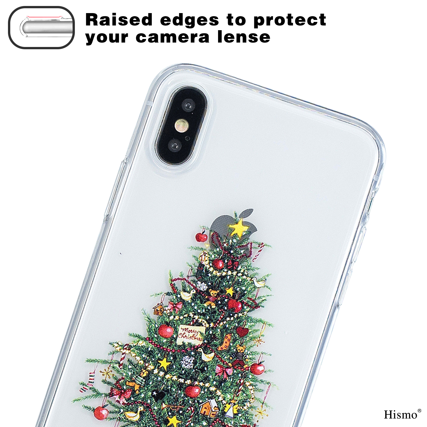 For iPhone XS Max XR 8 7 Cute Christmas Pattern Clear TPU Soft ...