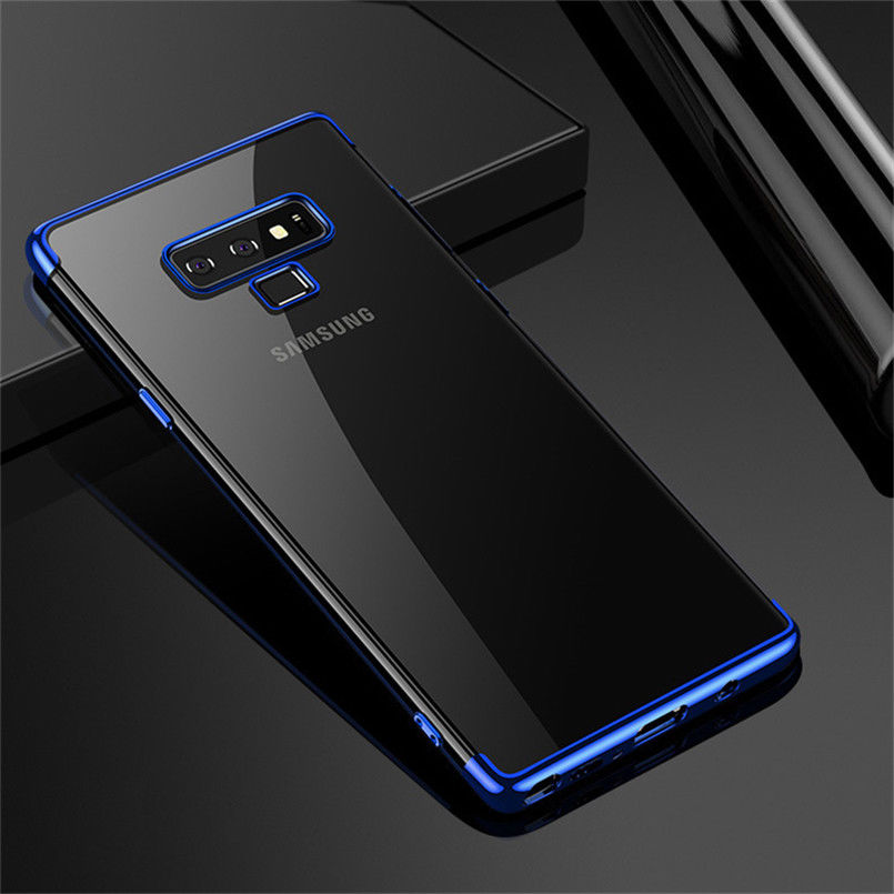 For Samsung Galaxy Note 9 S9 Luxury Plating Hybrid Rubber Clear Slim Case Cover | eBay