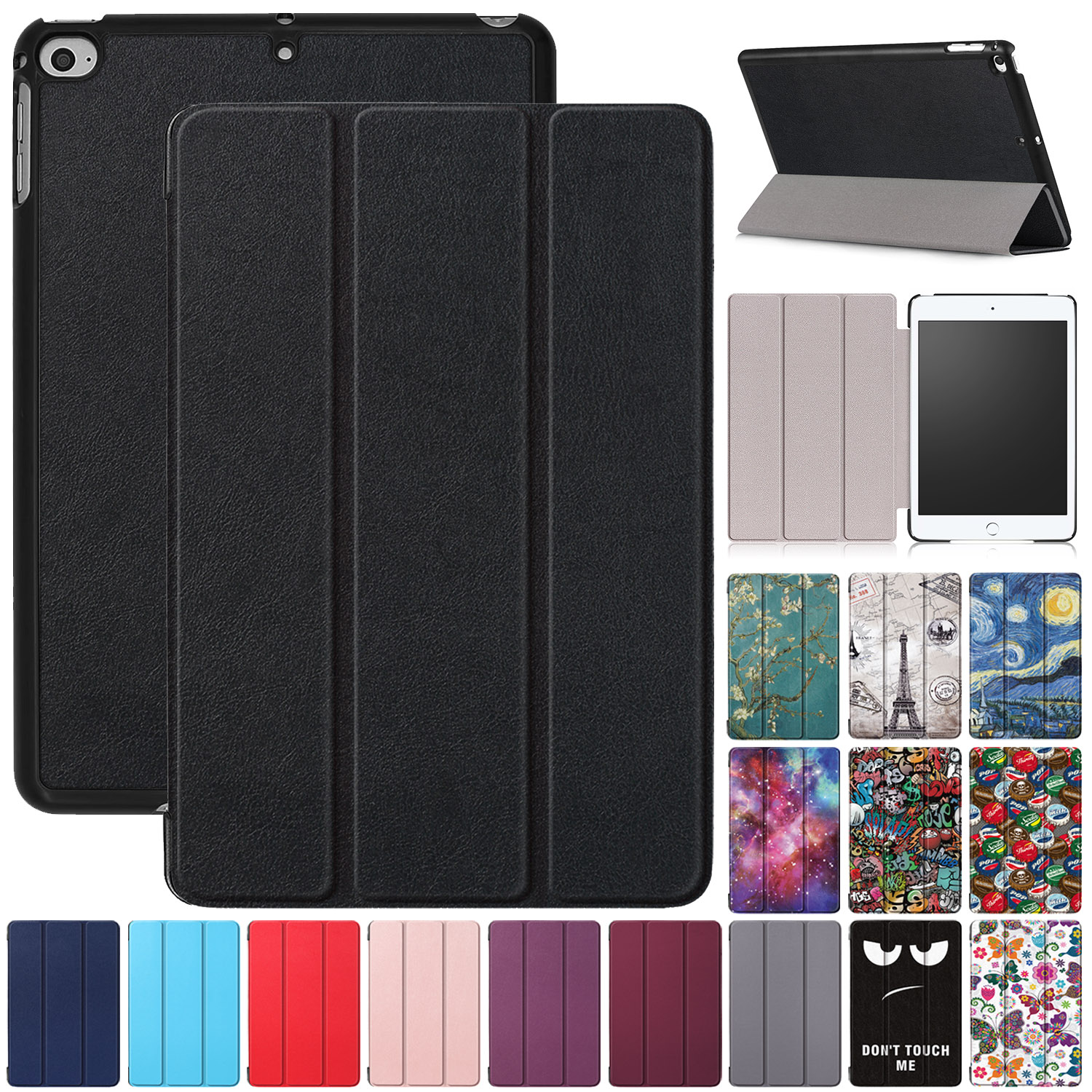 Strong Magnetic Smart Case For Apple iPad Models Ultra-Slim Folding Stand Cover