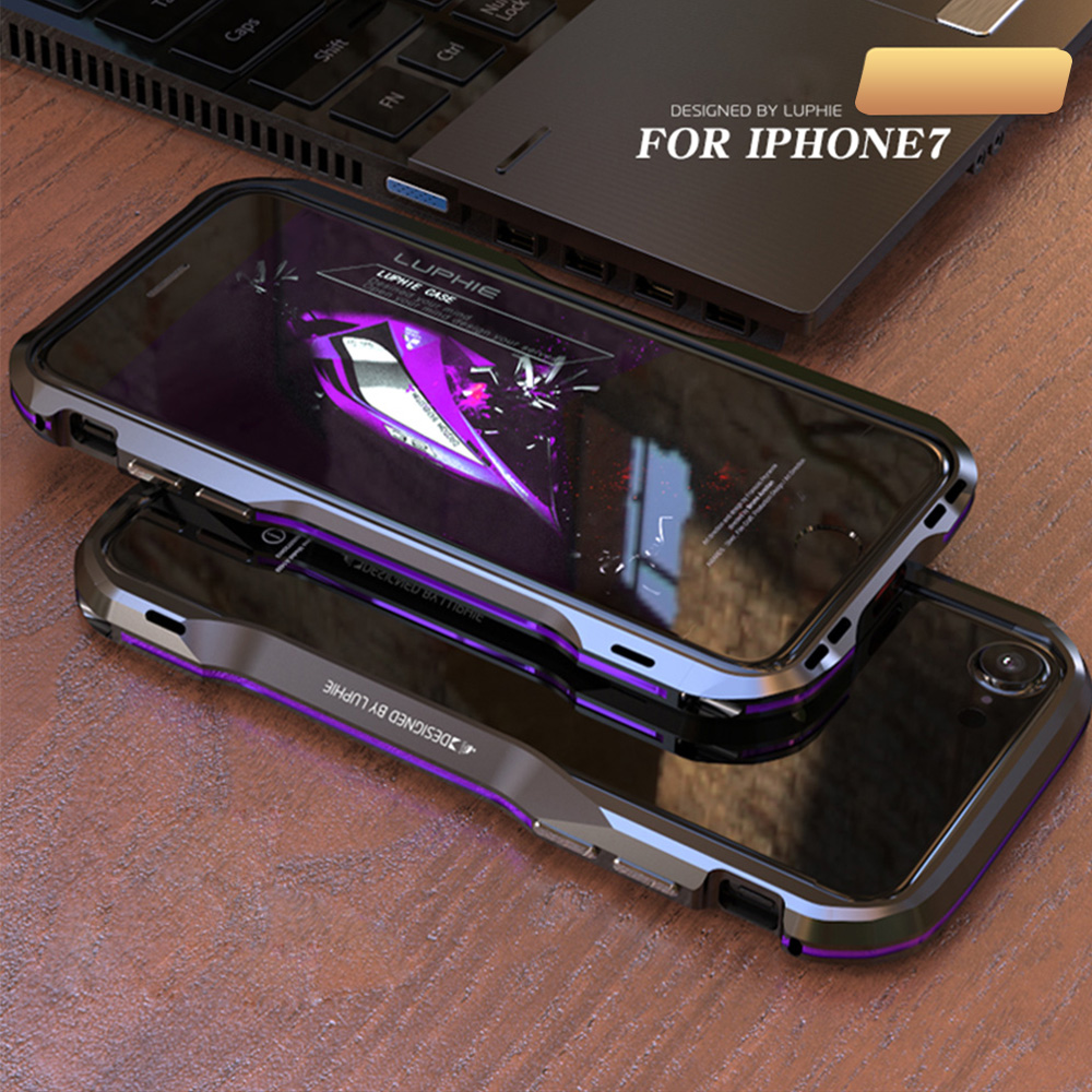 pretty nice 374d2 7d825 Details about Ultra Slim LUPHIE Aluminum Frame Metal Bumper Cover Case For  iPhone XS Max 6 7 8