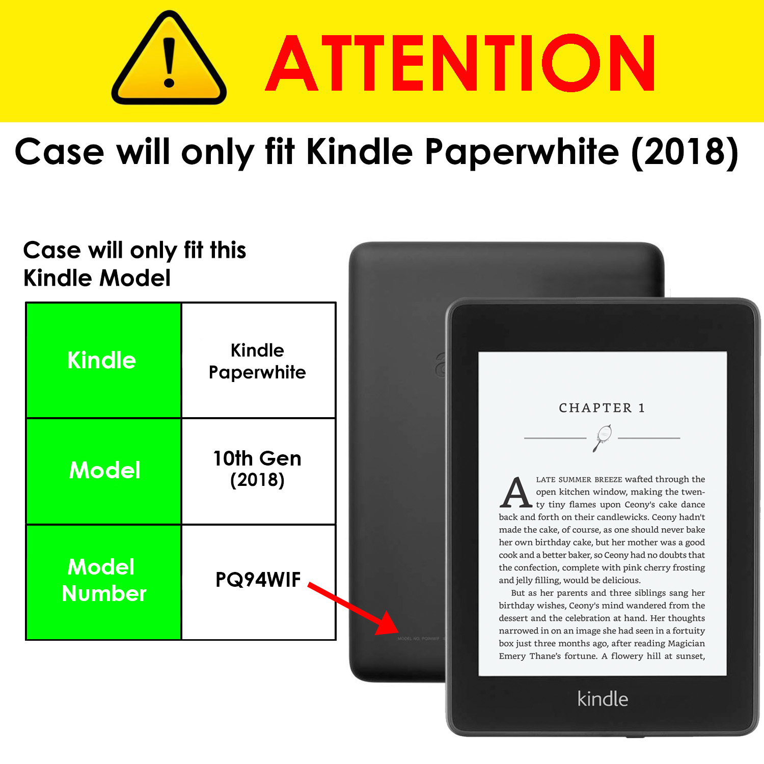 Details about For Kindle Paperwhite 2018 6